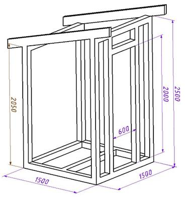 Как сделать туалет на даче: чертеж