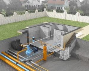 Пример организации бытовой канализации