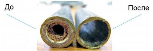 Трубы, очищенные гидродинамическим способом