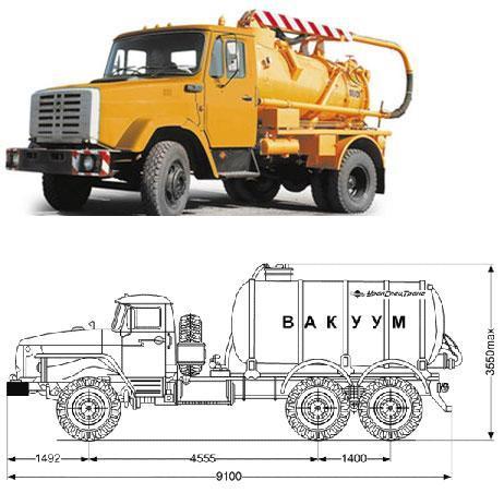 Машина для вакуумной откачки канализации: внешний вид и схема