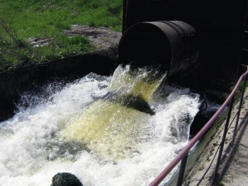 Выпуск очищенной воды