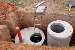 септик из бетонных колец для частного дома