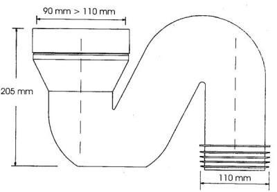 Схема монтажа фановой трубы диаметром 110 мм