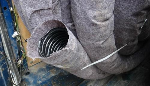 Перфорированная труба, обернутая геофильтром