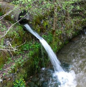 Сброс стоков дренажа в водоем