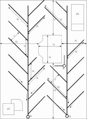 Пример схемы дренажной трассы