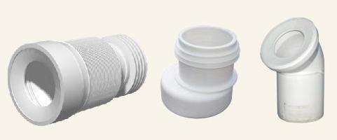 Элементы для подключения унитаза: гофра, эксцентриковая манжета, пластиковый отвод