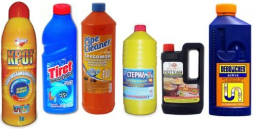 Химические средства для устранения засоров