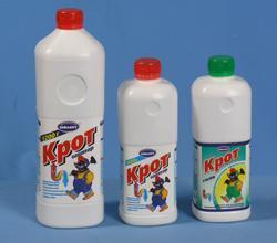 «Крот» - наиболее распространенный химический разрушитель засоров