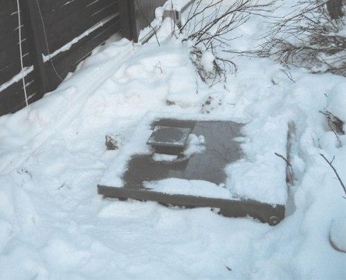 Зимой септик может промерзнуть насквозь