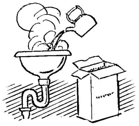 Поможет и обычный стиральный порошок