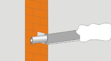 Восстановление стены после укладки трубопровода