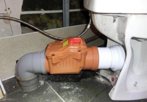 Правильно установленный обратный канализационный клапан
