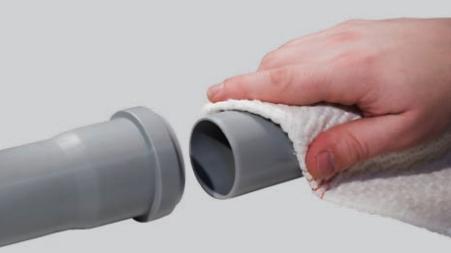 Подготовка труб к склеиванию