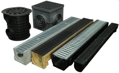 Изделия для точечного и линейного отвода дождевых стоков