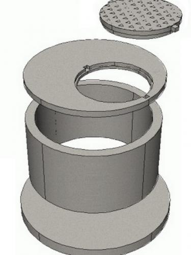 Схема устройства ливневого колодца