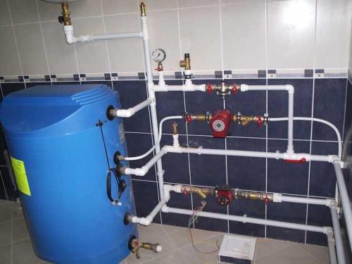 Разводка труб отопления
