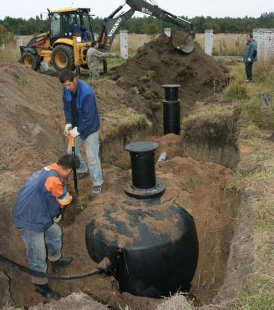 Обратная засыпка производится при одновременном наполнении емкости водой