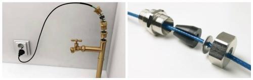 Ввод греющего кабеля в систему канализации