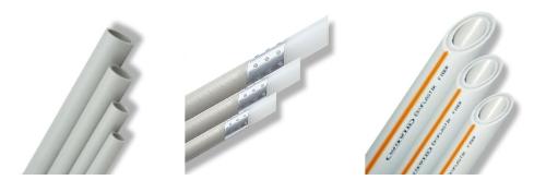 Виды труб: цельные, армированные алюминиевой фольгой и стекловолокном