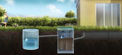 Принцип действия приемного колодца с последующим использованием накопленной жидкости