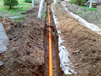 Как проложить трубу под фундамент для канализации и ...