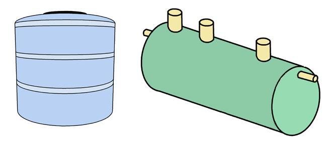 Для выгребной ямы удобно приобрести готовую пластиковую емкость