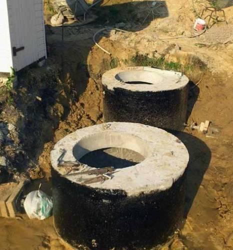 Внешняя гидроизоляция колец из бетона