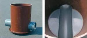 Смотровой линейный канализационный колодец (снаружи и внутри)