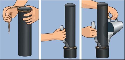 Процесс герметизации раструба