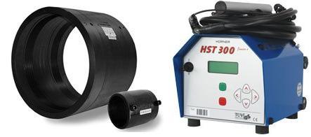 Для процесса необходимы: электромуфты (справа) и сварочный аппарат (слева)