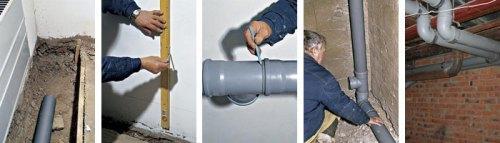 Трубы канализационные внутренние: монтаж
