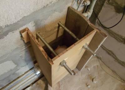 Готовая к бетонированию опалубка