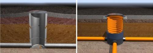 Колодцы в разрезе: бетонный и пластиковый