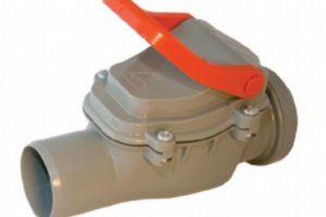 внешний вид канализационного клапана