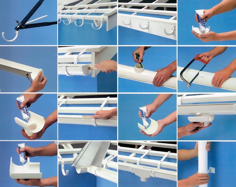 Монтаж водосточной системы инструкция по установке