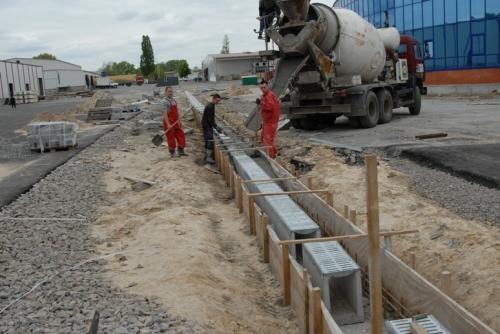 Боковое укрепление лотков бетоном