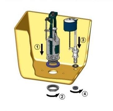 Сливной бачок для унитаза устройство схема ремонт