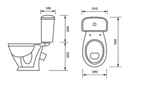 أحجام مرحاض المرحاض القياسية