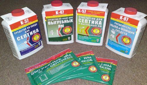 Препараты для очистки септиков и выгребных ям